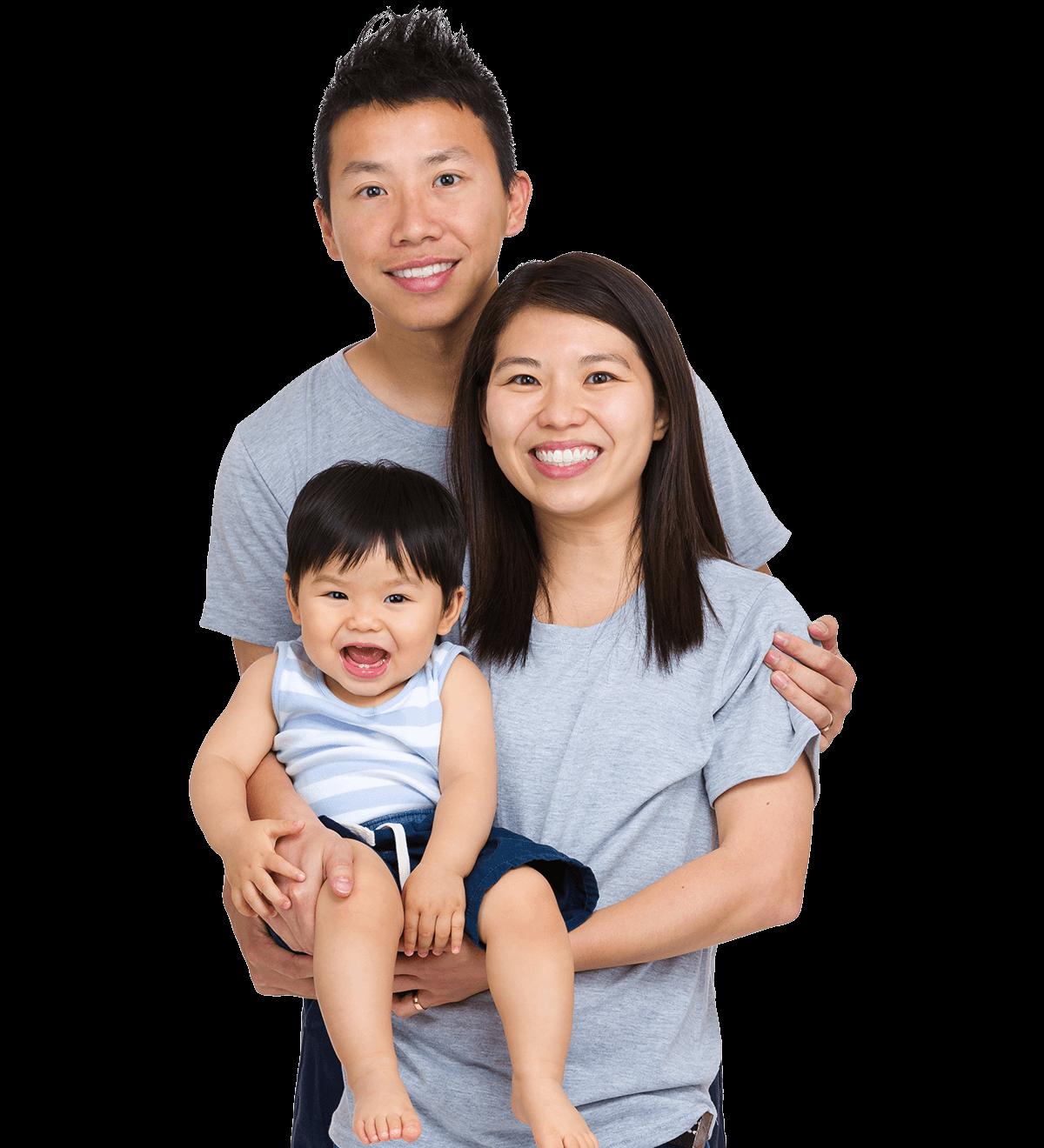 A really happy family